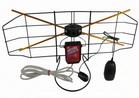 Antena szerokopasmowa pokojowa ze wzmacniaczem i zasilaczem